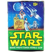 Star Wars 5th Series Empty Wax Box (1977-78 Topps) (Rare)
