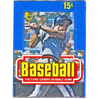 1977 Topps Baseball Wax Box