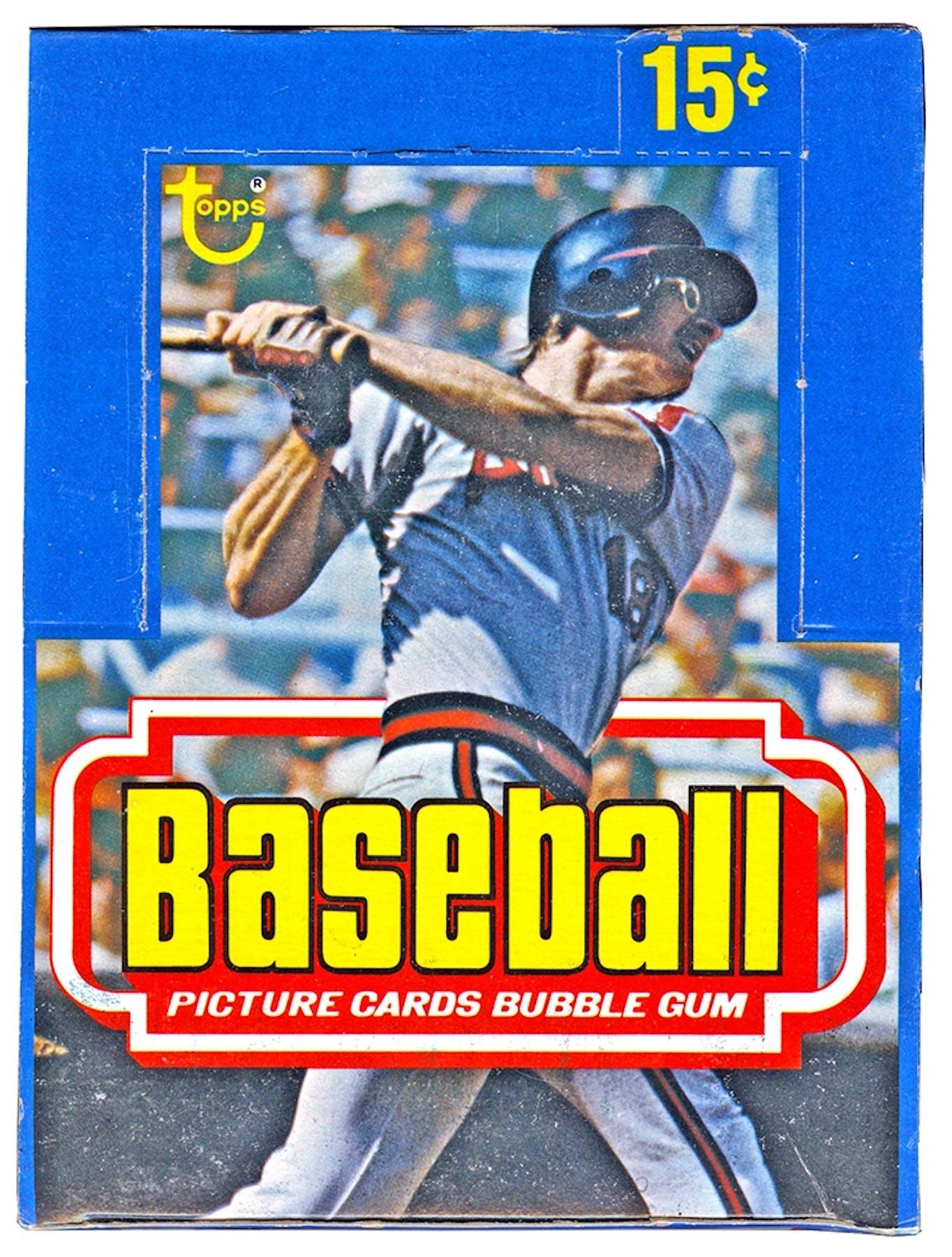 1977 Topps Baseball Wax Box Da Card World