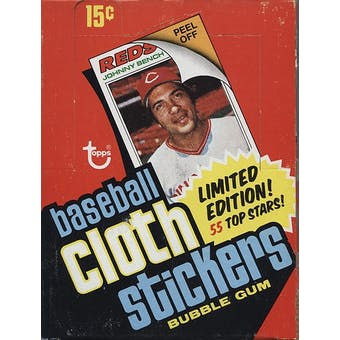 1977 Topps Cloth Stickers Baseball Wax Box