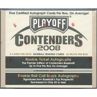 2008 Playoff Contenders Baseball Hobby Box