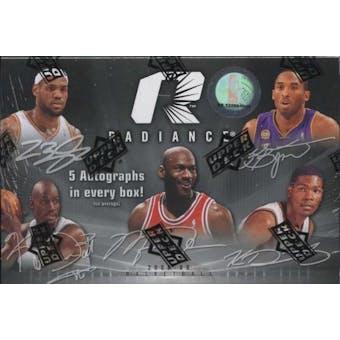 2008/09 Upper Deck Radiance Basketball Hobby Box