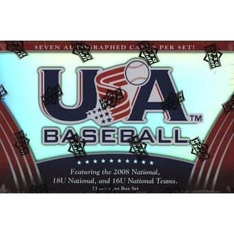 2009 Upper Deck USA Baseball National Teams Hobby Set (Box)