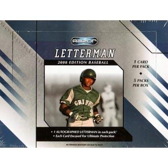 2008 Razor Letterman Edition Baseball Hobby Box