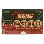 2001 Topps Heritage Baseball Retail 24 Pack Box (Reed Buy)