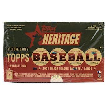 2001 Topps Heritage Baseball Retail 24 Pack Box