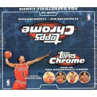 2008/09 Topps Chrome Basketball 24-Pack Box