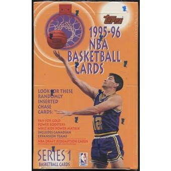 1995/96 Topps Series 1 Basketball Retail Box