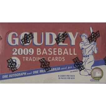 2009 Upper Deck Goudey Baseball Hobby Box