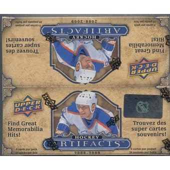 2008/09 Upper Deck Artifacts Hockey 24 Pack Box