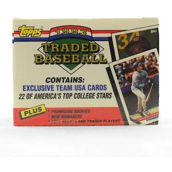 1993 Topps Traded & Rookies Baseball Factory Set