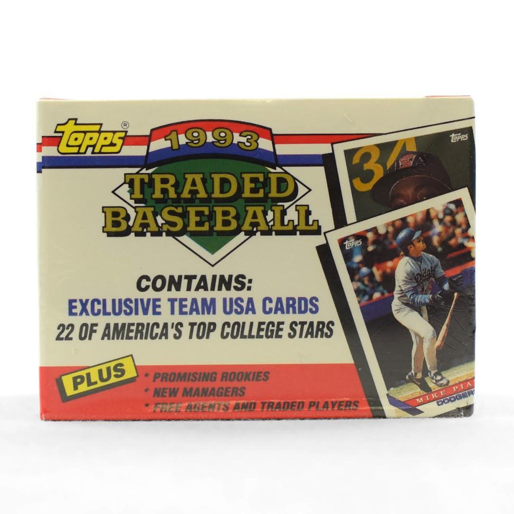 1993 Topps Traded Rookies Baseball Factory Set