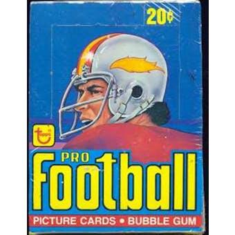 1978 Topps Football Wax Box