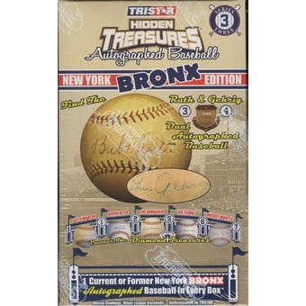 2009 TriStar Hidden Treasures New York Bronx Series 3 Baseball Hobby Box