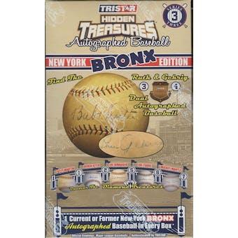 2009 TriStar Hidden Treasures New York Bronx Series 3 Baseball Hobby Box
