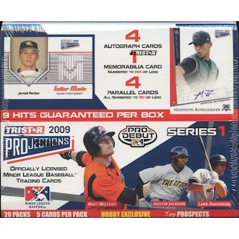 2009 TriStar Projections Series 1 Baseball Hobby Box
