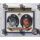 2009 Upper Deck SP Legendary Cuts Baseball Hobby Box
