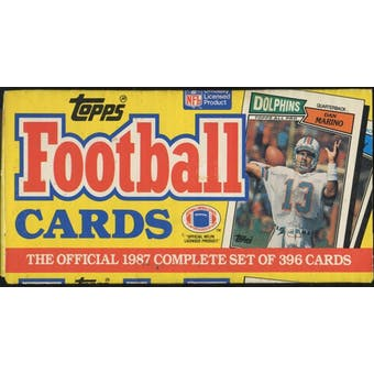 1987 Topps Football Factory Set (Christmas Box)