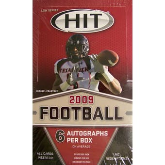 2009 Sage Hit Low Series Football Hobby Box