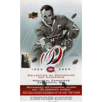 2008/09 Upper Deck Montreal Canadiens Centennial Hockey Hobby Box