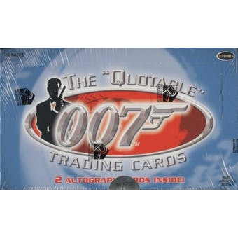 James Bond The Quotable Trading Cards Box (Rittenhouse 2004)