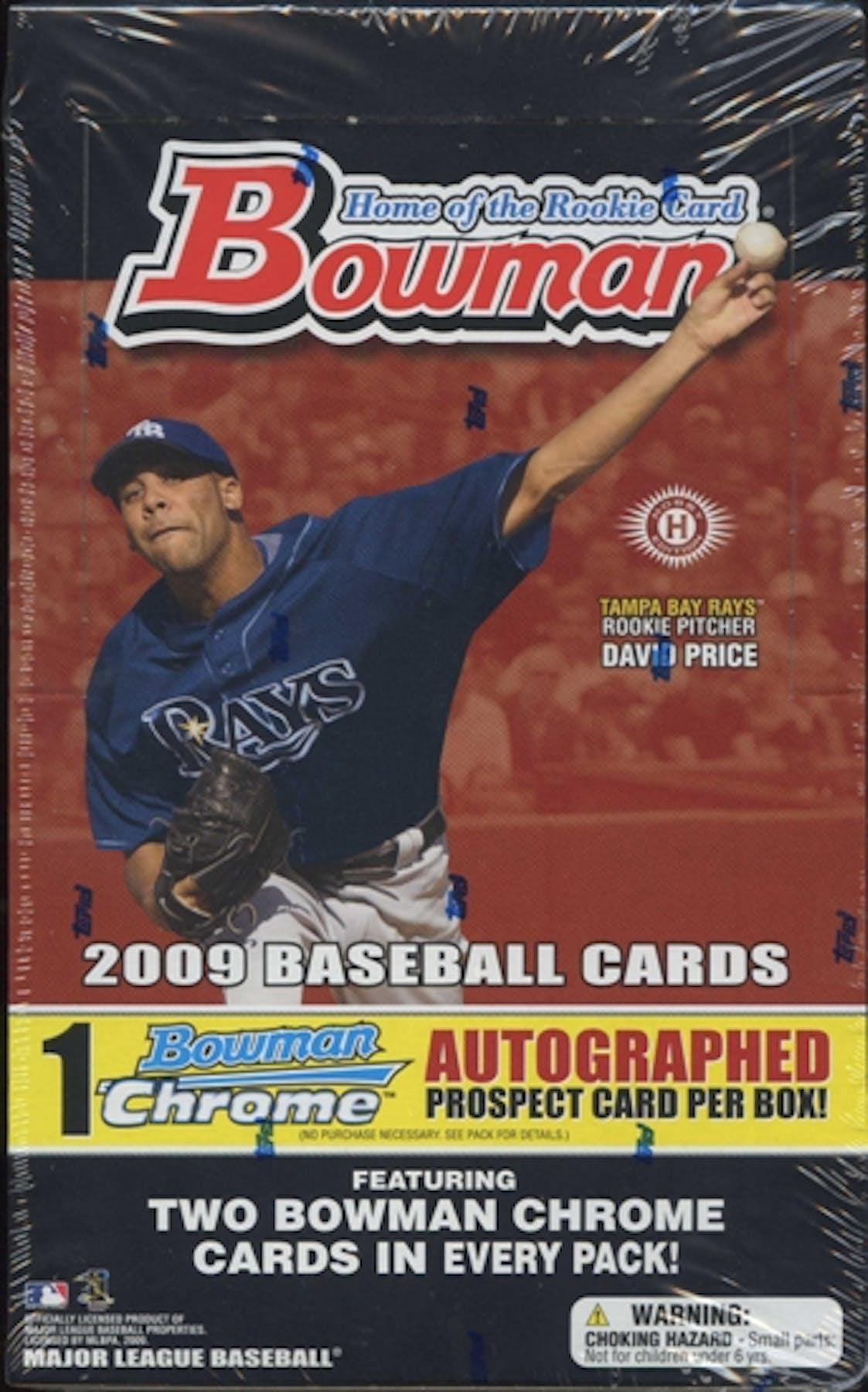 2009 Bowman Baseball Hobby Box Da Card World