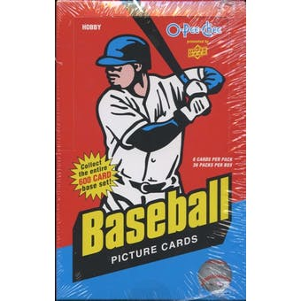 2009 Upper Deck O-Pee-Chee Baseball Hobby Box