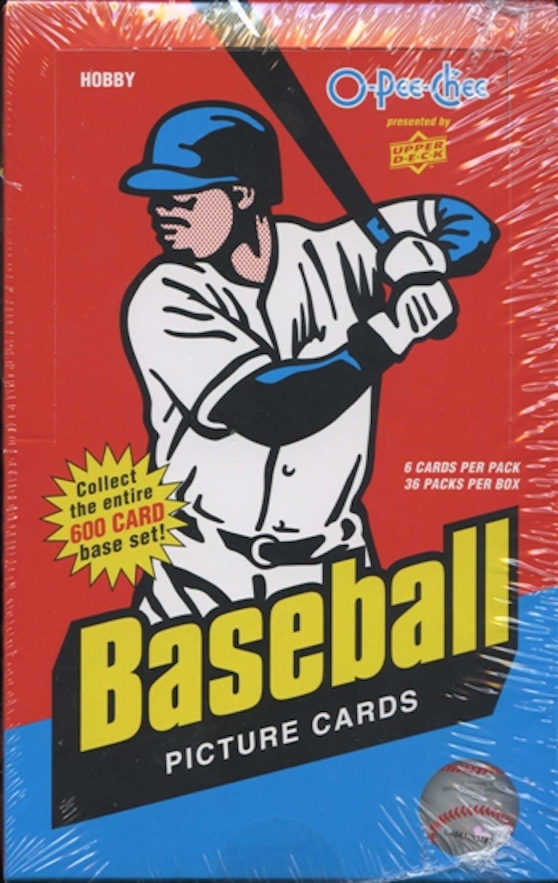 2009 Upper Deck O Pee Chee Baseball Hobby Box Da Card World
