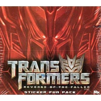 Transformers Revenge of the Fallen Sticker Box (2009 Topps)