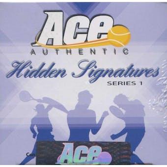 2009 Ace Authentic Hidden Signatures Series 1 Tennis Hobby Box