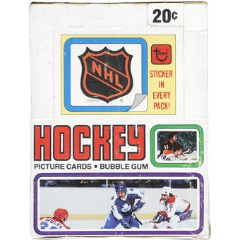 1979/80 Topps Hockey Wax Box