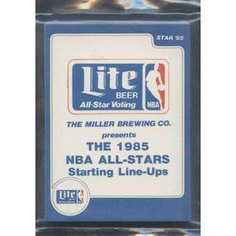 1985 Star Co. Basketball Miller Lite All-Stars Bagged Set