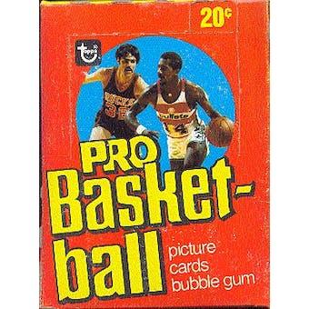 1978/79 Topps Basketball Wax Box