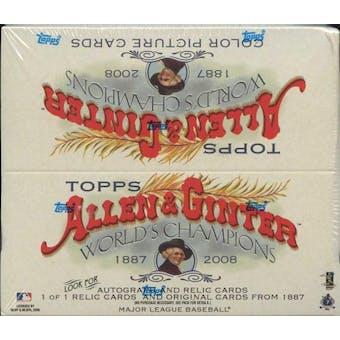 2008 Topps Allen & Ginter Baseball 24-Pack Box