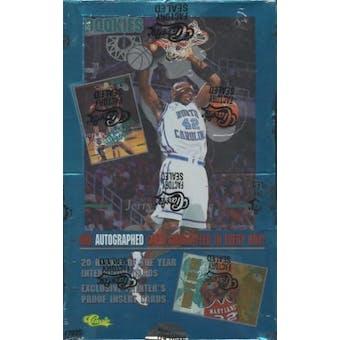 1995/96 Classic Rookies Basketball Hobby Box