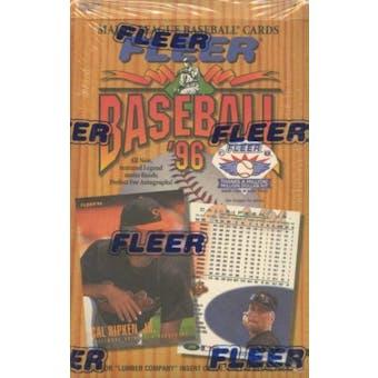 1996 Fleer Baseball 24 Pack Box