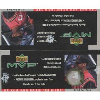 2001 Upper Deck MVP Baseball Prepriced Box