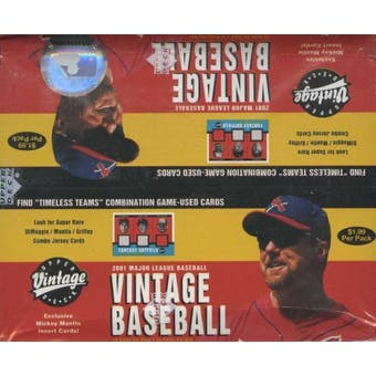 2001 Upper Deck Vintage Baseball Prepriced Box