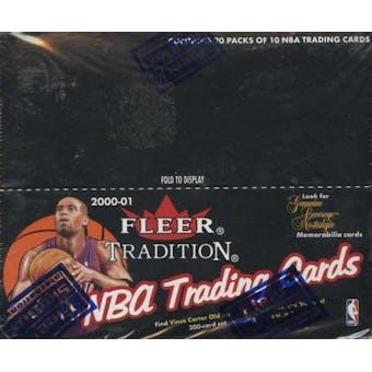 2000/01 Fleer Tradition Basketball Retail 20 Pack Box