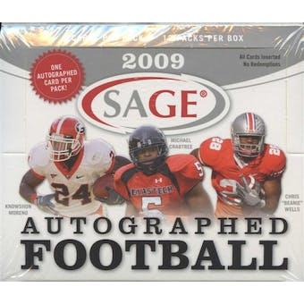 2009 Sage Autographed Football Hobby Box