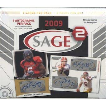 2009 Sage Squared Football Hobby Box