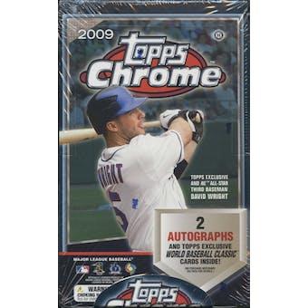 2009 Topps Chrome Baseball Hobby Box