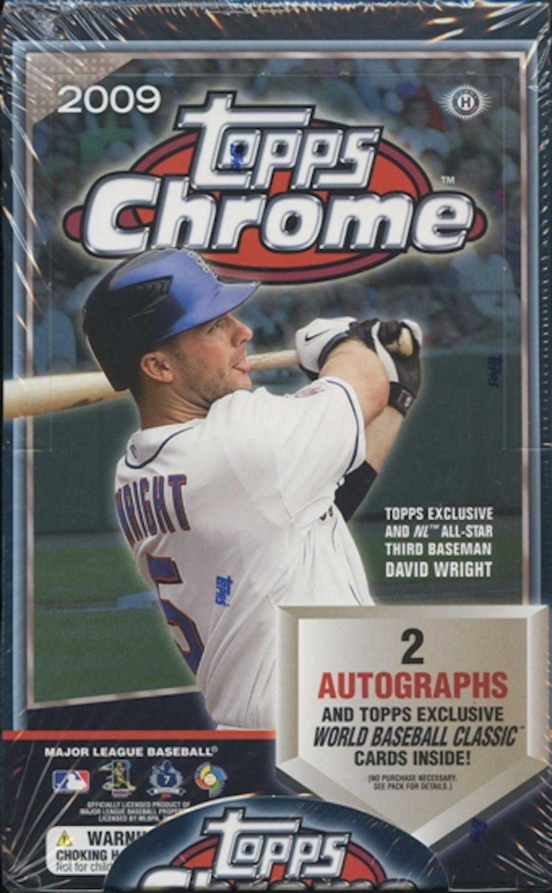 2009 Topps Chrome Baseball Hobby Box Da Card World
