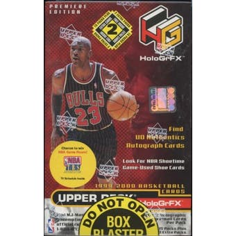 1999/00 Upper Deck Hologrfx Basketball Blaster 17 Pack Box