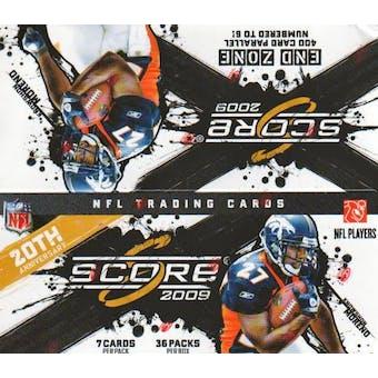 2009 Score Football 36-Pack Box
