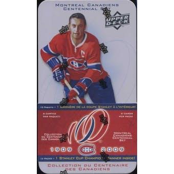 2008/09 Upper Deck Montreal Canadiens Centennial  Hockey Hobby Tin (Box)