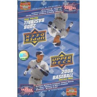 2008 Upper Deck Series 1 Baseball 24-Pack Box