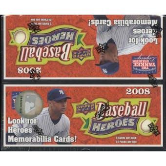 2008 Upper Deck Heroes Baseball 24-Pack Box