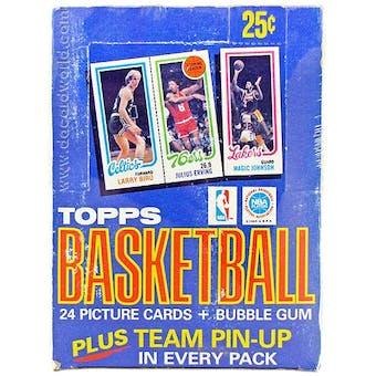 1980/81 Topps Basketball Wax Box