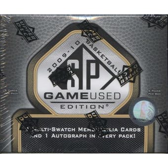 2009/10 Upper Deck SP Game Used Basketball Hobby Box